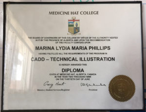 CAD Diploma Certificate